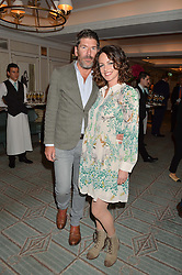 RUSSELL NORMAN and ? at a party hosted by Ewan Venters CEO of Fortnum & Mason to celebrate the launch of The Cook Book by Tom Parker Bowles held at Fortnum & Mason, 181 Piccadilly, London on 18th October 2016.