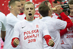 October 8, 2017 - Warsaw, Poland - Kamil Grosicki of Poland celebrates after the FIFA World Cup 2018 Qualifying Round Group E match between Poland and Montenegro at National Stadium in Warsaw, Poland on October 8, 2017  (Credit Image: © Andrew Surma/NurPhoto via ZUMA Press)