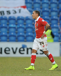 Bristol City's James Tavernier  cuts a dejected figure at the end of the game - Photo mandatory by-line: Dougie Allward/JMP - Mobile: 07966 386802 - 21/02/2015 - SPORT - Football - Colchester - Colchester Community Stadium - Colchester United v Bristol City - Sky Bet League One