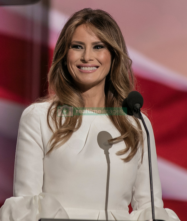 July 18, 2016 - Cleveland, Ohio, U.S - Republican National Convention.Melania Trump at the poduim tonight (Credit Image: © Mark Reinstein via ZUMA Wire)