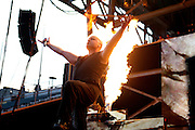 Disturbed performing at Rock on the Range at Crew Stadium in Columbus, OH on May 22, 2011