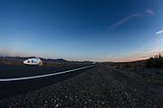 Sebastiaan Bowier is onderweg in de VeloX2.  In de buurt van Battle Mountain, Nevada, strijden van 10 tot en met 15 september 2012 verschillende teams om het wereldrecord fietsen tijdens de World Human Powered Speed Challenge. Het huidige record is 133 km/h.<br /> <br /> Sebastiaan Bowier is in his way in the VeloX2. Near Battle Mountain, Nevada, several teams are trying to set a new world record cycling at the World Human Powered Vehicle Speed Challenge from Sept. 10th till Sept. 15th. The current record is 133 km/h.