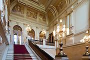 Rathaus innen, Treppenhaus, Hamburg, Deutschland Verwendung nur mit Genehmigung des Hamburger Rathauses.|.interior of guild hall, Hamburg, Germany