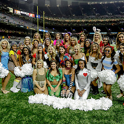 Oct 29, 2017; New Orleans, LA, USA; New Orleans Saints Saintsations cheerleaders dress in costume for Halloween during a game against the Chicago Bears at the Mercedes-Benz Superdome. The Saints defeated the Bears 20-12. Mandatory Credit: Derick E. Hingle-USA TODAY Sports