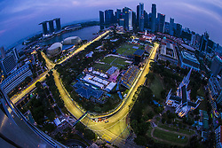 September 15, 2018 - Singapore, Singapore - Motorsports: FIA Formula One World Championship 2018, Grand Prix of Singapore, . general view of the track  (Credit Image: © Hoch Zwei via ZUMA Wire)