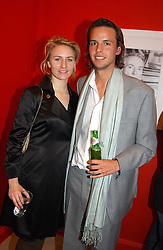 MISS MICKEY SUMNER daughter of singer Sting and MR CHARLIE GILKES at a private view of an exhibition of photographs by the late Robert Mapplethorpe curated by artist David Hockney at the Alison Jacques Gallery, 4 Clifford Street, London W1 on 13th January 2005.<br /><br />NON EXCLUSIVE - WORLD RIGHTS