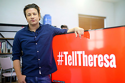 © Licensed to London News Pictures. 31/10/2016. London, UK. Celebrity chef JAMIE OLIVER challenges the Government and campaigns to get Prime Minister Theresa May re-engage with the obesity strategy to put the health of future generations back on the Government's agenda on 31 October 2016 in central London. Photo credit: Tolga Akmen/LNP