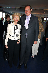 JONATHAN AITKEN and his wife ELIZABETH HARRIS at a party hosted by Sonia & Andrew Sinclair at The Westminster Boating Base, 136 Grosvenor Road, London SW1 on 5th June 2006.<br />