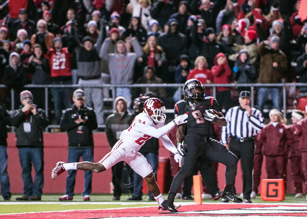 The Rutgers Scarlet Knights take on the Indiana Hoosiers on senior day at High Point Solutions Stadium in Piscataway, NJ on Saturday, November 15, 2014.<br />