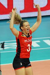 Belgium Frauke Dirickx celebrates