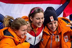 22-02-2018 KOR: Olympic Games day 13, PyeongChang<br /> Short Track Speedskating / Shorttrackster Suzanne Schulting heeft dankzij een magistrale finale de olympische titel veroverd op de 1.000 meter. Yara Van Kerkhof of the Netherlands, Lara Van Ruijven of the Netherlands