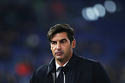 Roma head coach Paulo Fonseca reacts during the UEFA Europa League, Group J football match between AS Roma and Wolfsberg AC on December 12, 2019 at Stadio Olimpico in Rome, Italy - Photo Federico Proietti / ProSportsImages / DPPI