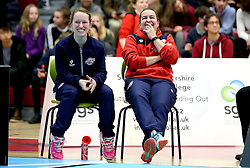 Bristol Jets Head Coach Rebecca Pantany and Jess Hopton of Bristol Jets smile - Photo mandatory by-line: Robbie Stephenson/JMP - 06/02/2017 - BADMINTON - SGS Wise Arena - Bristol, England - Bristol Jets v Surrey Smashers - AJ Bell National Badminton League