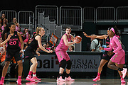February 11, 2018: Chatrice White #50 of Florida State in action during the NCAA basketball game between the Miami Hurricanes and the Florida State Seminoles in Coral Gables, Florida. The Seminoles defeated the 'Canes 91-71.