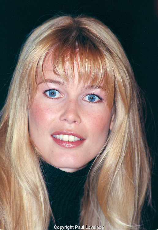 Claudia Schiffer at a Sydney Press Conference in the late 1990's