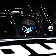 April 27, 2012:  Sprint Cup Series driver Jimmie Johnson (48) is in his car getting ready to go out for the first practice session during the Capital City 400 at Richmond International Raceway, Richmond, VA. (Credit Image: © Kostas Lymperopoulos/Cal Sport Media)