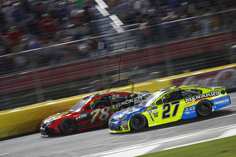 May 28, 2017 - Concord, NC, USA: Paul Menard (27) battles for position during the Coca Cola 600 at Charlotte Motor Speedway in Concord, NC.