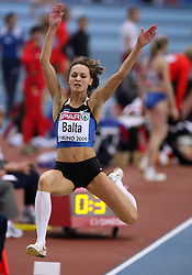 Long jump athlete Ksenija Balta of Estonia in the Qualification at the 1st day of  European Athletics Indoor Championships Torino 2009 (6th - 8th March), at Oval Lingotto Stadium,  Torino, Italy, on March 6, 2009. (Photo by Vid Ponikvar / Sportida)