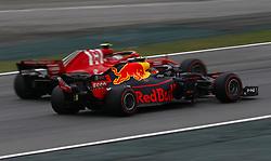 "November 10, 2018 - SãO Paulo, Brazil - SÃO PAULO, SP - 10.11.2018: GRANDE PRÊMIO DO BRASIL DE FÃ""RMULA 1 2018 - Max VERSTAPPEN, NDL, RedBull Racing and Kimi Räikkönen, (RAIKKONEN), FIN, Team Scuderia Ferrari during the third free practice for the Brazilian Grand Prix of Formula 1 2018, held at Autodromo Interlagos, in São Paulo, SP. (Credit Image: © Rodolfo Buhrer/Fotoarena via ZUMA Press)"