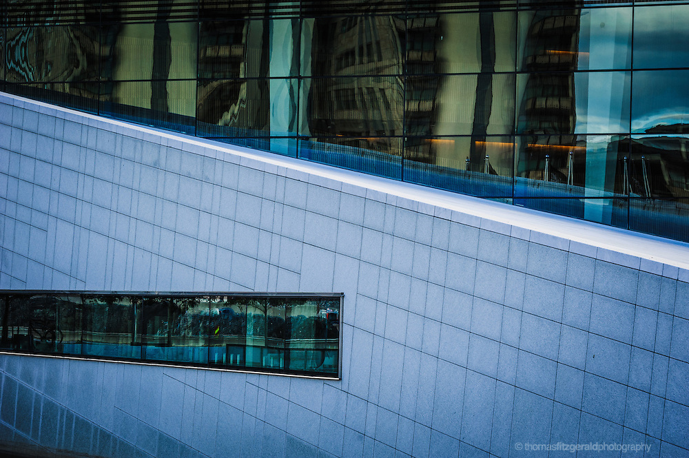 Oslo, Norway, October 2012: Close up of the Opera House Windows.EDITORIAL ONLY: This Image is only for Editorial Use