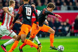 Sam Lammers #14 of PSV Eindhoven in action during the match between Ajax and PSV at Johan Cruyff Arena on February 02, 2020 in Amsterdam, Netherlands