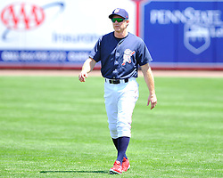 Philadelphia Phillies 2nd baseman Chase Utley rehabs with the Lehigh Valley IronPigs in a game against the Norfolk Tides August 2nd, 2015, at Coca-Cola Park in Allentown.