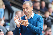 Cambridge United manager Colin Calderwood during the EFL Sky Bet League 2 match between Cambridge United and Forest Green Rovers at the Cambs Glass Stadium, Cambridge, England on 7 September 2019.