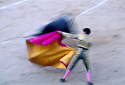 Bullfighter in motion