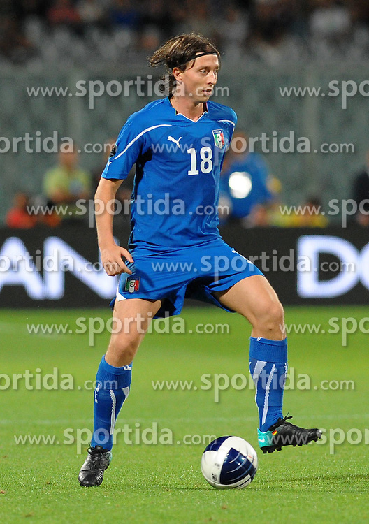07.09.2010, Stadio Artemio Franchi, Florenz, ITA, UEFA 2012 Qualifier, Italia v Faer Oer, im Bild riccardo motolivo.EXPA Pictures © 2010, PhotoCredit: EXPA/ InsideFoto/ Massimo Oliva *** ATTENTION *** FOR AUSTRIA AND SLOVENIA USE ONLY! / SPORTIDA PHOTO AGENCY