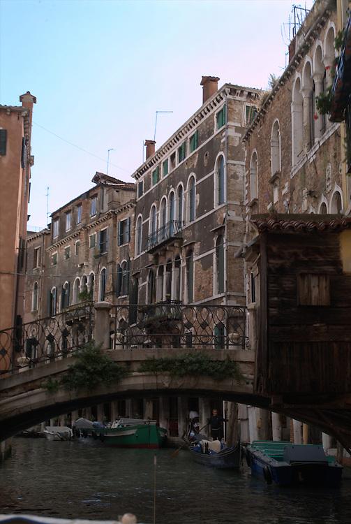 Bridge over canal in Venice, Italy