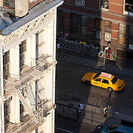 New York , Soho district Elevated view