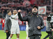Liverpool's Coach Jurgen Klopp celebrates during the Champions League round of 16, leg 2 of 2 match between Bayern Munich and Liverpool at the Allianz Arena stadium, Munich, Germany on 13 March 2019.