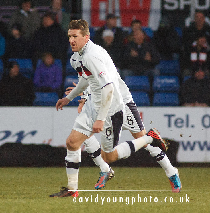 Dundee's Iain Davidson  celebrates after scoring - Ross County v Dundee, Clydesdale Bank Scottish Premier League at Victoria Park, Dingwall.. - © David Young - www.davidyoungphoto.co.uk - email: davidyoungphoto@gmail.com