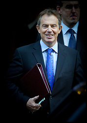 Tony Blair leaving  Downing St today Wednesday 28th January 2004 on the result of hutton inquiry .PA Photo Andrew Parsons