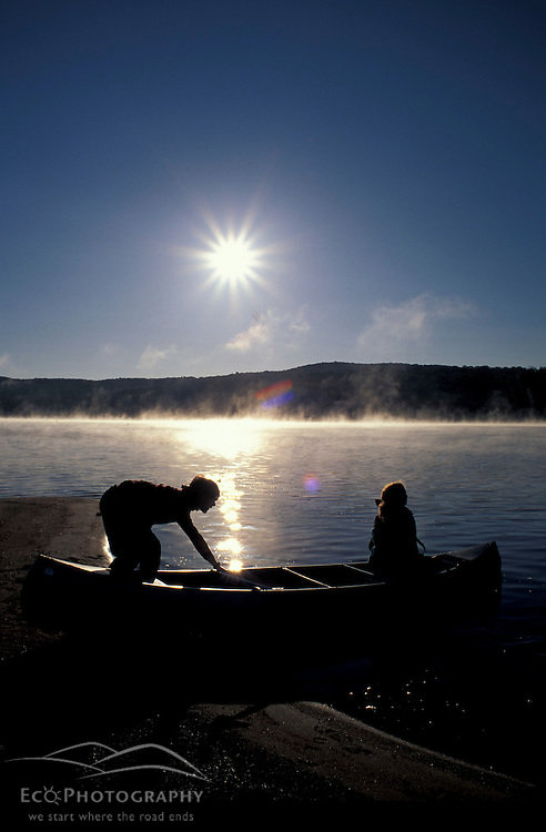 Cranberry Lake, NY.Northern Forest. Canoeing on Cranberry Lake in New York's Adirondack Mountains.