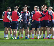 Dundee manager Neil McCann speaks to some of the squad -  Dundee FC - Pre-season training at University Grounds, Riverside, Dundee, Photo: David Young<br /> <br />  - &copy; David Young - www.davidyoungphoto.co.uk - email: davidyoungphoto@gmail.com