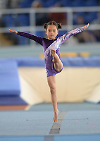20 Aug 2016: Kim Gilmore, from Cavan, performs in the U9 Gymnastics.   2016 Community Games National Festival 2016.  Athlone Institute of Technology, Athlone, Co. Westmeath. Picture: Caroline Quinn