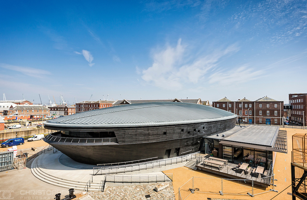The Mary Rose Museum nears completion at Portsmouth Historic Dockyard.<br /> Picture date: Thursday April 25, 2013.<br /> Photograph by Christopher Ison &copy; The Press Association<br /> 07544044177<br /> chris@christopherison.com<br /> www.christopherison.com