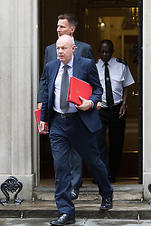 Downing Street, London, August 2nd 2016. Work and Pensions Secretary Damian Green leaves Downing Street following the Economic and Industrial Strategy Committee meeting. The committee is comprised of eleven cabinet ministers and has been set up by Prime Minister Theresa May to ensure that Britain is in the best position to successfully leave the European Union.