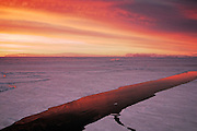 Antarctica, Bransfield Straight, sea ice melting sun has set this is the Antarctica spring time.