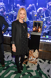 MYANNA BURING at a dinner hosted by Creme de la Mer to celebrate the launch of Genaissance de la Mer The Serum Essence held at Sexy Fish, Berkeley Square, London on 21st January 2016.