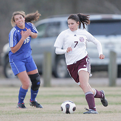 2 December 2008: St. Thomas Aquinas  Cambri Prevost (#7) during the St. Thomas Lady Falcons 5-2 loss to Country Day in a non-district soccer match at Falcons Soccer Field in Hammond, LA.