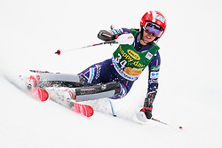 January 7, 2018 - Kranjska Gora, Gorenjska, Slovenia - Emi Hasegawa of Japan competes on course during the Slalom race at the 54th Golden Fox FIS World Cup in Kranjska Gora, Slovenia on January 7, 2018. (Credit Image: © Rok Rakun/Pacific Press via ZUMA Wire)