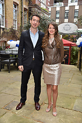 Rosa Fenwick and Alex Jones at the Glasshouse Café & Bar at The Chelsea Courtyard launch party, 151 Sydney Street, London England. 25 April 2018.