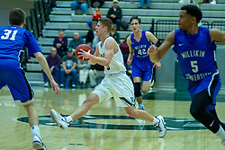 BLOOMINGTON, IL - January 04: Cory Noe during a college basketball game between the IWU Titans  and the Millikin Big Blue on January 04 2020 at Shirk Center in Bloomington, IL. (Photo by Alan Look)