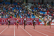 Women's 200m during the Muller Grand Prix 2018 at Alexander Stadium, Birmingham, United Kingdom on 18 August 2018. Picture by Toyin Oshodi.
