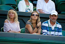 LONDON, ENGLAND - Thursday, July 3, 2014: Parents of Lucie Safarova Jana [L] and Milan during the Ladies' Singles Semi-Final match on day ten of the Wimbledon Lawn Tennis Championships at the All England Lawn Tennis and Croquet Club. (Pic by David Rawcliffe/Propaganda)