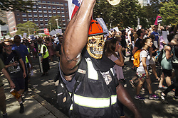 August 19, 2017 - Boston, Mssachusetts, United States - Thousands of Counter Protesters gathered around Reggie Lewis Center to get ready for antifascist protest march to Boston Common in Boston, Mssachusetts. (Credit Image: © Go Nakamura via ZUMA Wire)