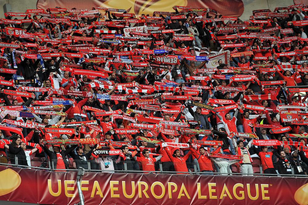 15-05-2013 VOETBAL: UEFA EL FINALE BENFICA - FC CHELSEA: AMSTERDAM<br /> Benifica Fanblock<br /> ***NETHERLANDS ONLY***<br /> &copy;2013-FotoHoogendoorn.nl