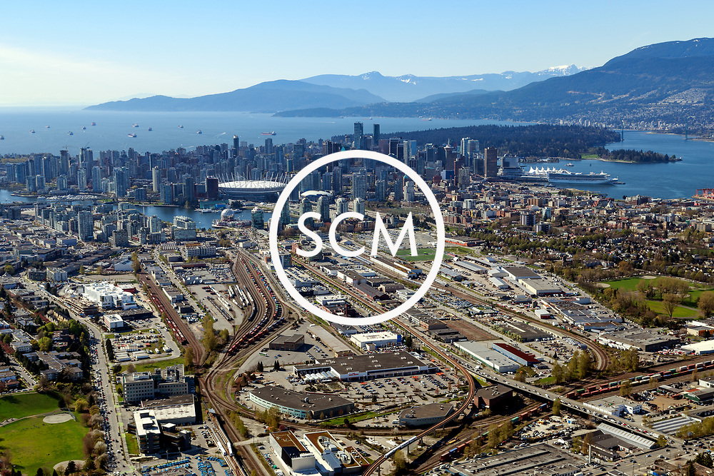 Aerial Photography of East 1st Ave., Vancouver, BC